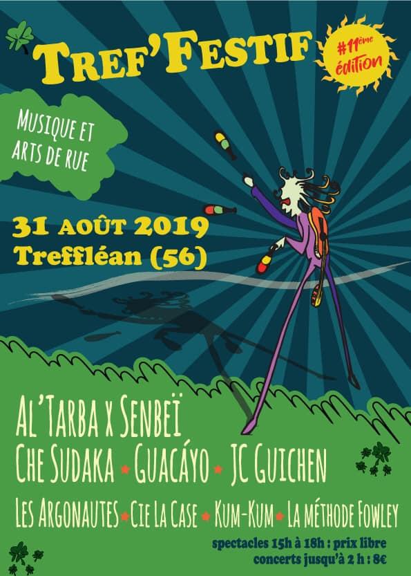 Tref'festif à Trefléan (56): 11ème édition du festival qui vous invite à une journée riche en activités. Et de la musique qui saura ravir les oreilles de tous.