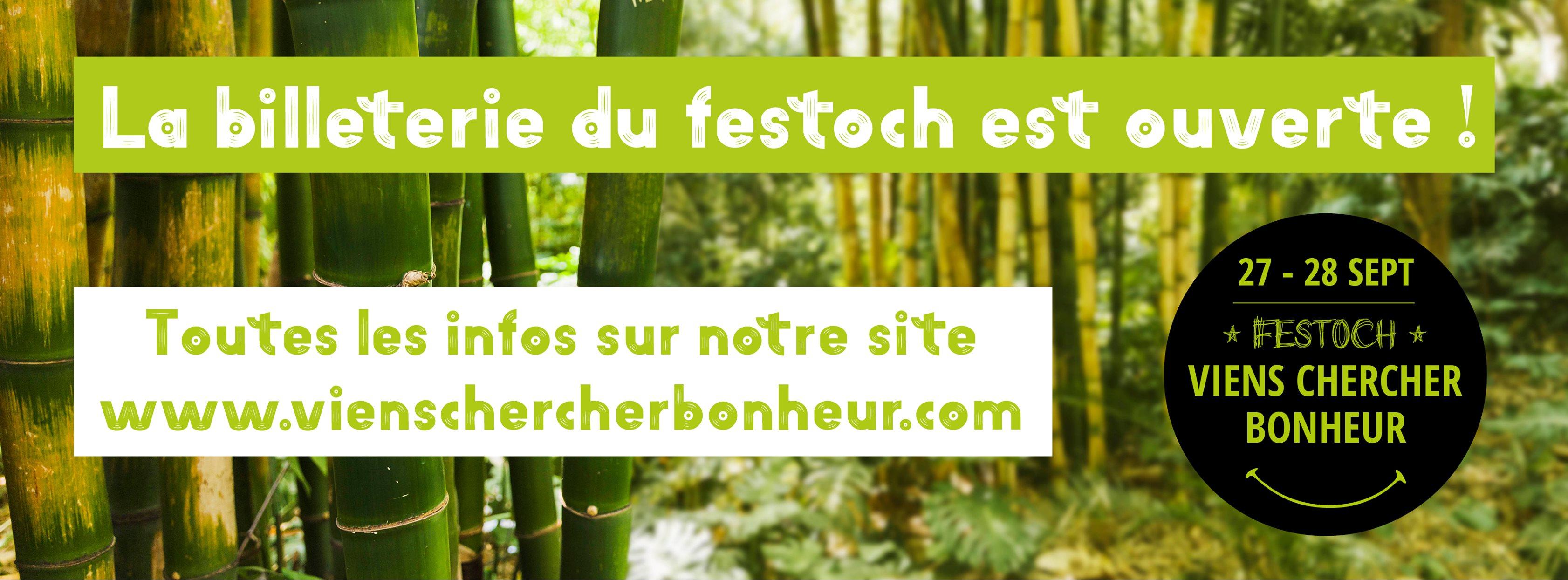 Viens Chercher Bonheur 2019 La 18ème édition du Festoch' Viens Chercher Bonheur aura lieu les 27 et 28 septembre 2019 au Pâtis à Meigné-le-Vicomte (49).  L'idée est de proposer [...]