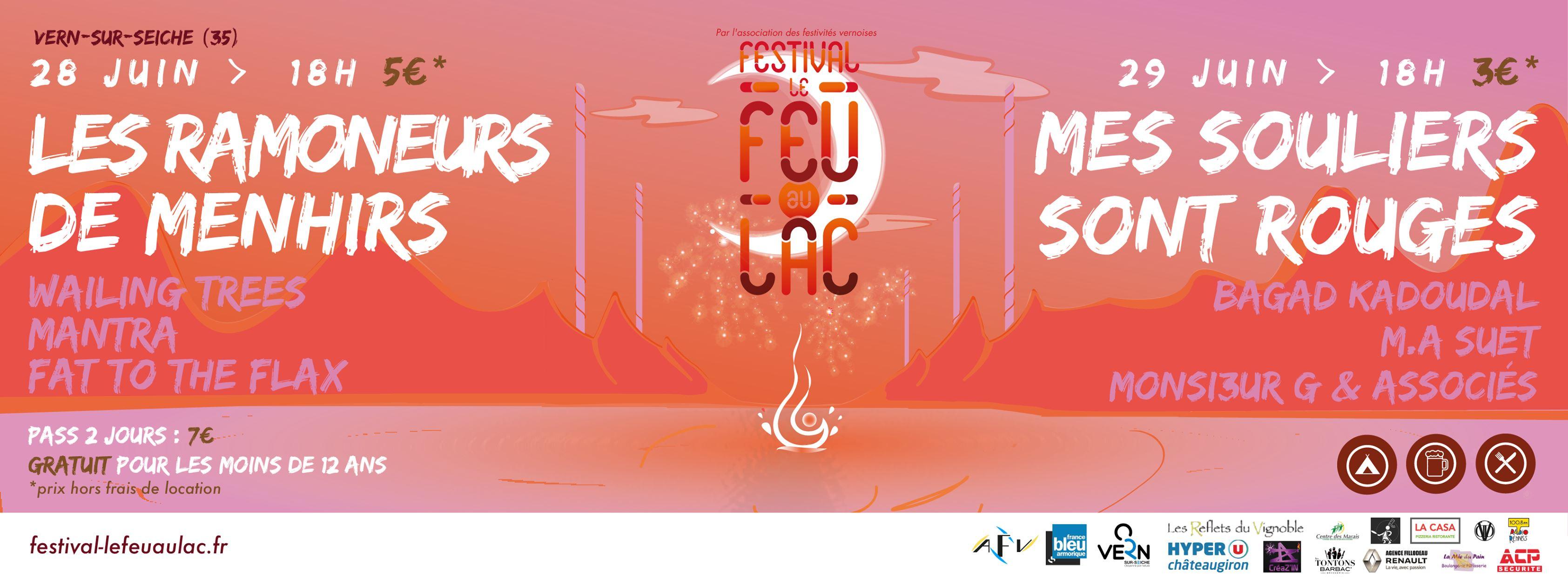 Le Festival Le Feu Au Lac voit le jour en 2006 à Vern-sur-Seiche (35), organisé pour sa première édition par le Comité des Fêtes et Acrorock.
