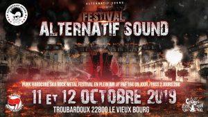 Le 1 er Festival d'Alternatif Sound en plein air, en Bretagne !! aura lieu le 11 et 12 octobre 2019