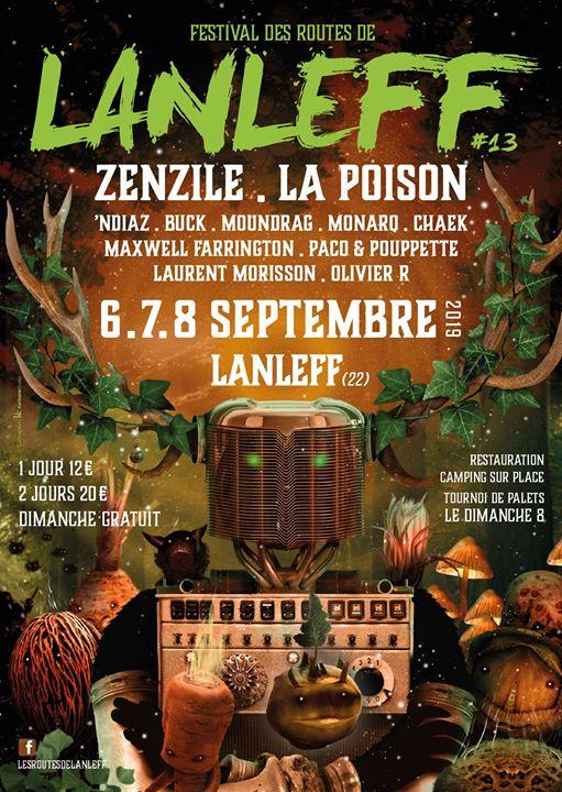 13 ème édition du festival dans le temple de Lanleff du 6 au 8 septembre 2019.