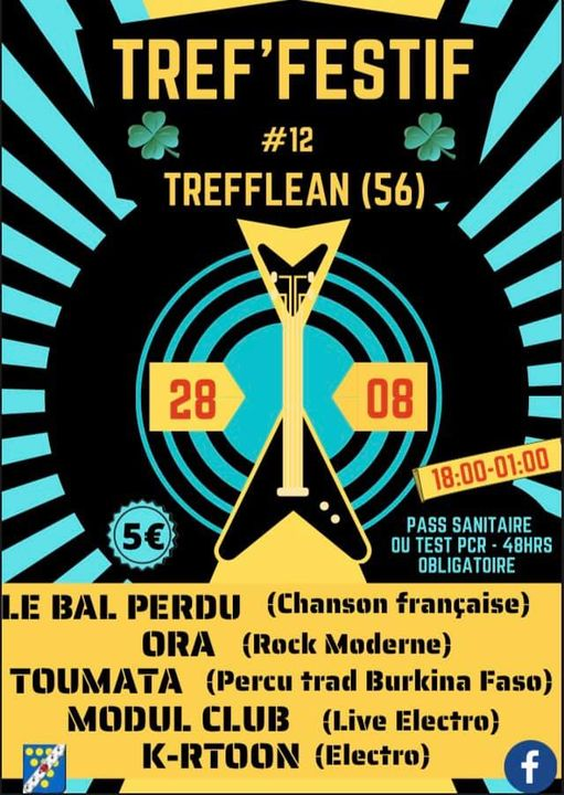 Tref'festif à Trefléan (56): 12ème édition du festival qui vous invite à une journée riche en activités. Et de la musique qui saura ravir les oreilles de tous.