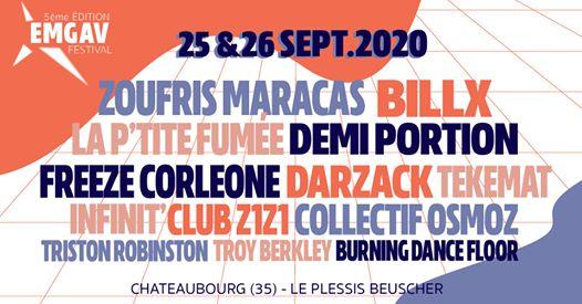 Emgav Festival 2020: les deux scènes (dont l'une à l'extérieur) verront se relayer des artistes locaux et internationaux aux styles différents