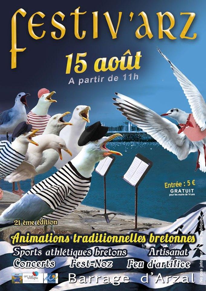L'association Alliance, qui regroupe toutes les associations sportives et culturelles Arzalaises organise ce mercredi 15août la vingtième édition de Festiv'Arz. Pour les 20 ans, l'association a tenu à présenter un éventail de traditions et de cultures bretonnes.
