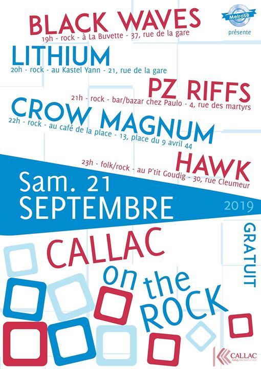 Callac on the rock Le retour de la fameuse ascension de Callac par les bars ! Cette année elle sera plus rock ! Au programme: 19h - Black Waves, group [...]