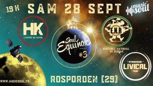 3ème édition de la Soul Equinox Party le 28 SEPT au Centre Culturel de ROSPORDEN (29) avec de grosses grosses vibes pour l'occasion !!