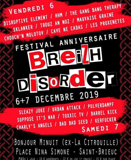 Breizh Disorder 1, retour à la formule marathon pour un week-end punk-rock sur la scène de Bonjour Minuit, où chaque groupe jouera 30 minutes.