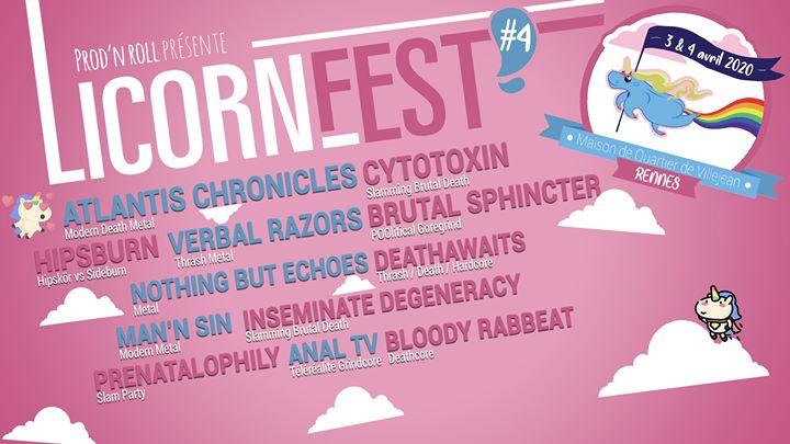 Licorne Fest Quatrième édition du Licorne Fest, festival rennais dédié aux musiques extrêmes et au fun ! Au programme 🦄 Cytotoxin - Slamming Brutal Death https://www.youtube.com/watch?v=JSvOYSK1TiI 🦄 ATLANTIS CHRONICLES - [...]