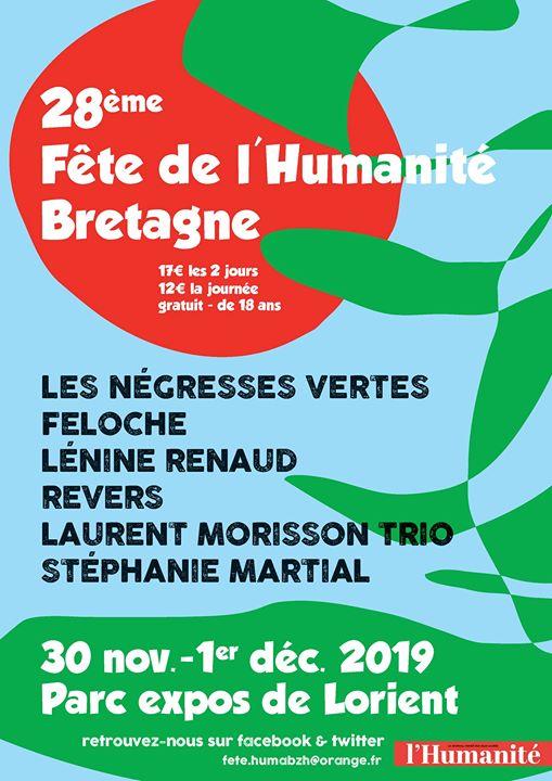 28ème Fête de l'Humanité Bretagne CONCERTS SPECTACLES DÉBATS CINÉMA LIBRAIRIE EXPOSITIONS