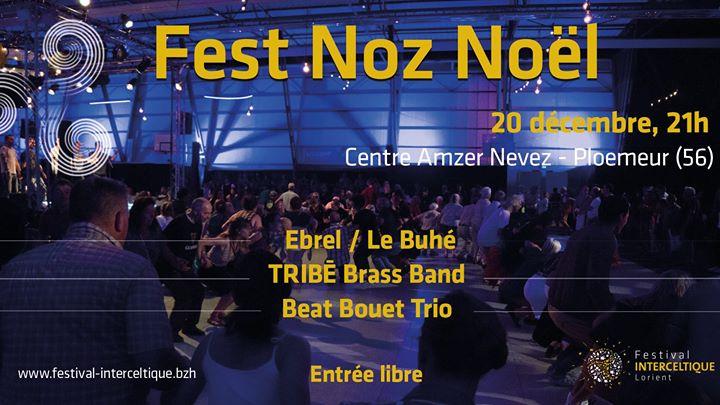 Le vendredi 20 décembre 2019, le Festival Interceltique de Lorient organise son traditionnel Fest Noz de Noël au Centre Amzer Nevez de Ploemeur.