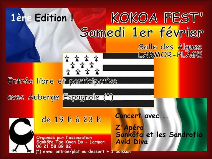 KOKOA Fest' KOKOA , cela signifie en éthnie Baoulé (Côte d'Ivoire) les cloches mais aussi la fête, la musique… Ce sera la première édition entre artistes locaux aux répertoires éclectiques [...]