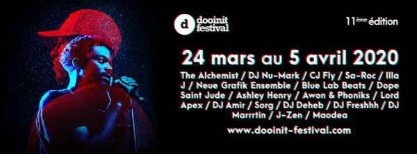 Dooinit Festival 2020 Le Dooinit est de retour pour sa11e édition, une édition particulière pendant laquelle l'événementhip-hop rennais proposera une fois de plus une programmation ambitieuse etpointue. Du 24 mars [...]