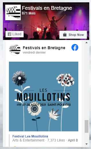 fan page de festival en bretagne