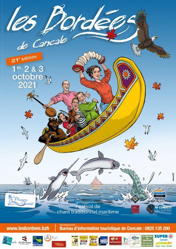 La 21ème édition des Bordées de Cancale qui devaient se tenir les 3 et 4 octobre 2020. aura finalement bien lieu en 2021.